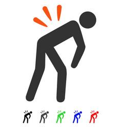Backache flat icon vector