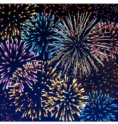 Background with fireworks vector image