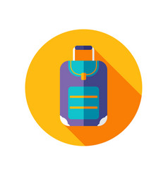 baggage icon travel summer vacation vector image vector image