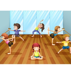Ballet class vector