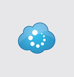 Blue cloud loading icon vector image vector image