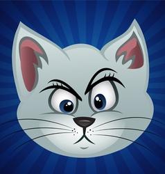 Cat face perplexed vector