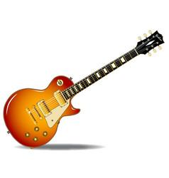 cherry sunburst guitar vector image vector image