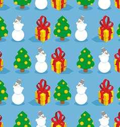 Christmas seamless pattern Symbols of winter vector image vector image