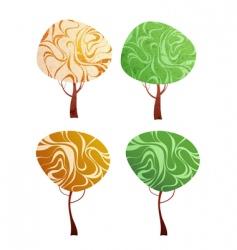 deco trees vector image vector image