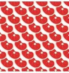 Fresh meat seamless pattern flat style vector
