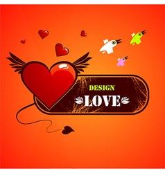 Grunge love heart design vector