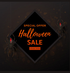 Halloween sale design background vector