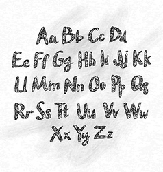Hand drawn abc small letters vector image