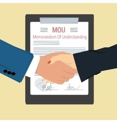 Handshake - memorandum of understanding vector