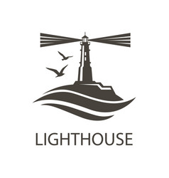 image of lighthouse vector image vector image