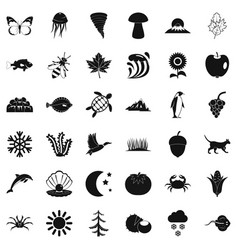 Inborn icons set simple style vector