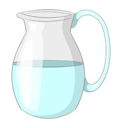 Jug of milk icon cartoon style vector