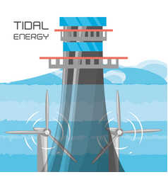 Landscape related with tidal energy vector