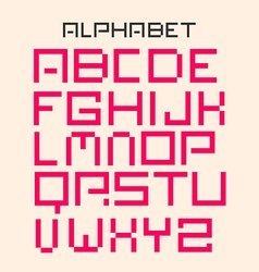 Modern Digital Alphabet Set vector image vector image