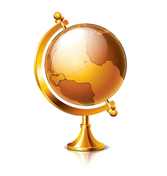 object vintage globe vector image vector image