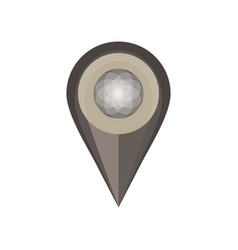 pin map icon isolated white symbol push location vector image vector image