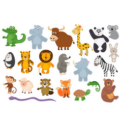Set of isolated animals vector