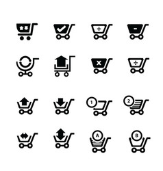 Shopping cart icons and symbol and bubble talk vector