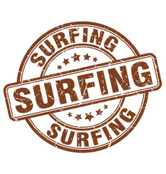 Surfing stamp vector