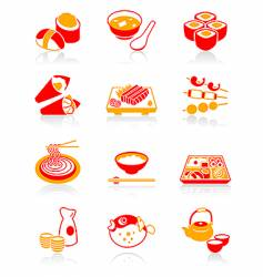 sushi-bar icons juicy series vector image vector image