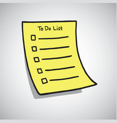 to do list paper checklist doodle vector image vector image