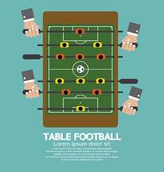 Top View of Table Football vector image
