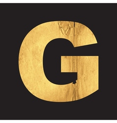 Uppercase letter G of the English alphabet vector image vector image