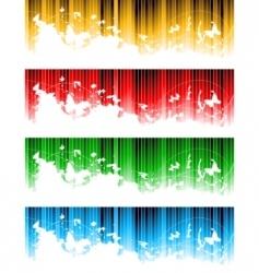 vector set of colorful banners vector image vector image