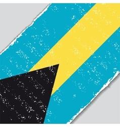 Bahamas grunge flag vector image