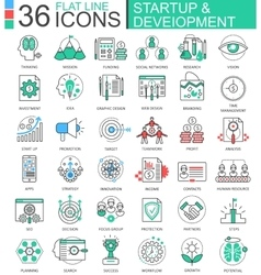 Startup and development modern color flat vector