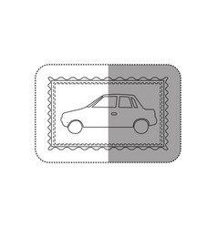 sticker contour frame of automobile icon vector image