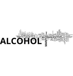 Alcohol is there a comparison with hard drugs vector