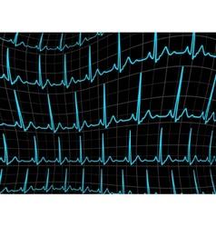ECG tracing monitor EPS 8 vector image