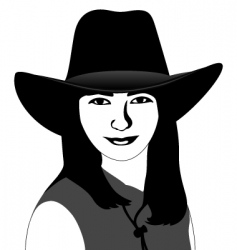 girl in a cowboy hat vector image