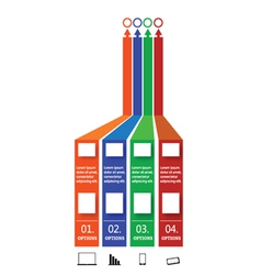 info graphic with four option vector image