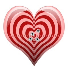 Targeted Love vector image