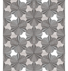 Geometric gray stripy overlay seamless pattern vector