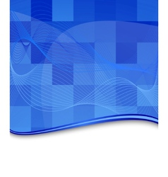 blue tile background template vector image