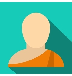 Buddhist monk flat icon vector