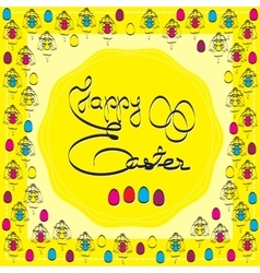Easter theme vector