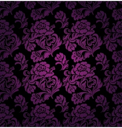 seamless pattern ornament lilac floral background vector image