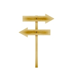 Wooden direction arrows vector