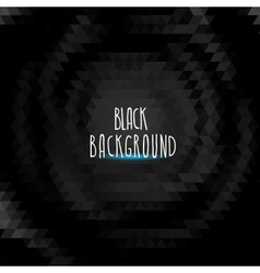 abstract black triangle background vector image