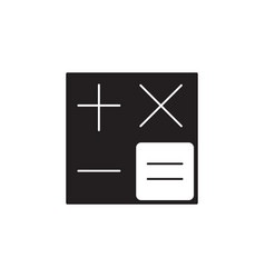 Calculator solid icon accounting symbol vector