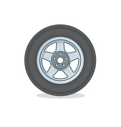 Car wheel icon vector