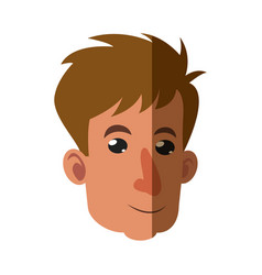 Cartoon head man adult shadow vector