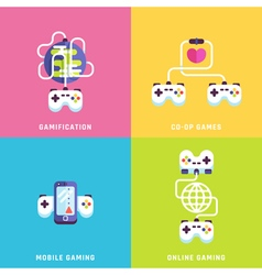 Game related concepts vector image vector image