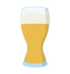 Glass of beer cartoon icon vector