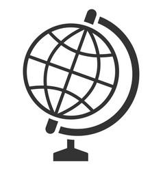 global flat icon vector image